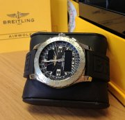 Breitling Airwolf Black Dial A78363 Diver Pro III Rubber Strap