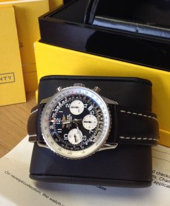 Breitling Navitimer Black Arabic Numeral Dial Just Serviced By Breitling A23322