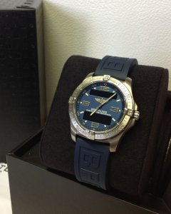 Breitling Aerospace Avantage Blue Dial E79362 Just Serviced By Breitling