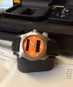 Breitling Emergency Coral Dial E76321 Just Serviced By Breitling