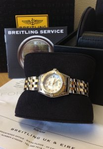 Breitling Callistino Ladies 29mm Bi/Colour Pink Mother Of Pearl Dial D52345