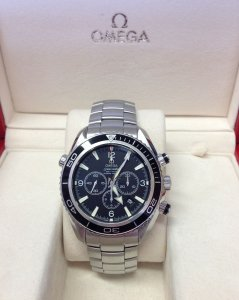 Omega Planet Ocean Chronograph 45.5mm Black Bezel Silver Numerals 2210.50.00