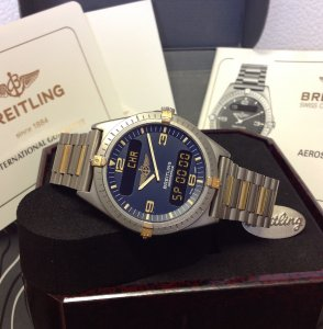 Breitling Aerospace Bi/Colour Blue Dial F56059 Just Serviced By Breitling UK