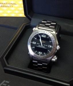Breitling Emergency Black Dial E76321 Full Set