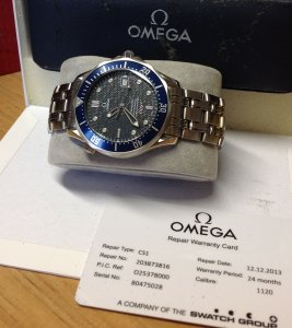 Omega Seamaster 40th Anniversary Limited Edition 41mm Automatic Blue Dial 2537.80.00 Just Serviced