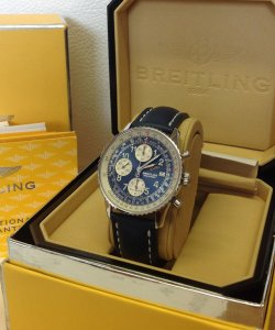 Breitling Old Navitimer Blue Arabic Numeral Dial A13322 Just Serviced By Breitling