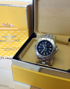 Breitling Superocean Professional Black Dial A17345 Just Serviced