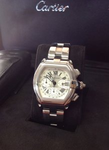 Cartier Roadster XL Chronograph W62006X6 Just Serviced By Cartier