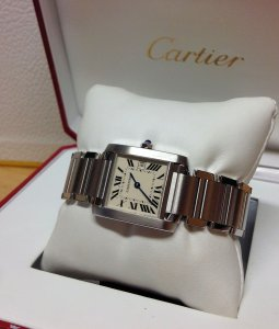 Cartier Tank Francaise 25mm Mid/Size Stainless Steel W51011Q3 Just Serviced