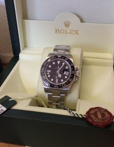 Rolex GMT Master II Ceramic Bezel 116710LN Recently Serviced By Rolex