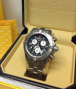 Breitling Avenger M1 Chronograph Black Dial E73360 Just Serviced By Breitling UK