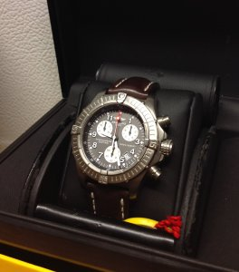 Breitling Avenger M1 Chronograph Grey Dial E73360 Just Serviced By Breitling