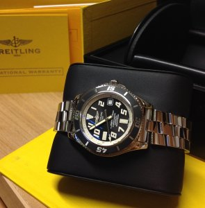 Breitling Superocean 42 Black And White Dial A17364