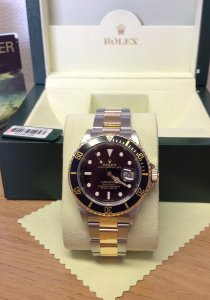 Rolex Submariner Date Bi/Colour Black Kit 16613LN From 2008 With Engraved Rehaut