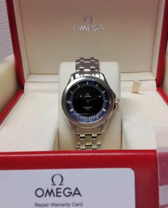 Omega Seamaster 120M Quartz Multifunction Blue Dial 2521.81.00 Recently Serviced By Omega