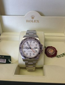 Rolex Explorer II 216570 42mm White Dial 2013