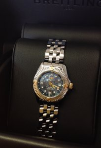 Breitling Callistino Bi/Colour Ladies 29mm Diamond Dot Black Mother Of Pearl Dial B72345