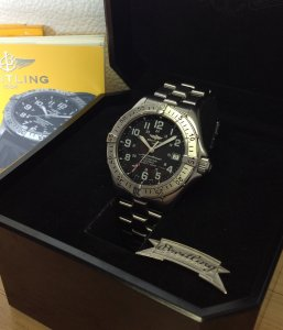 Breitling Superocean Professional 5000ft Black Dial A17345