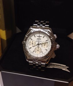 Breitling Crosswind Special A44355 White/Silver Dial Just Serviced By Breitling UK