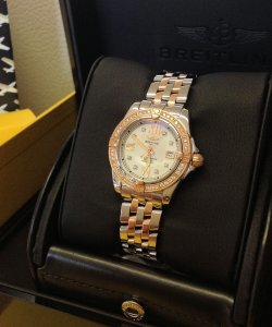 Breitling Lady Cokpit Steel & Rose Gold Diamond Bezel C71356