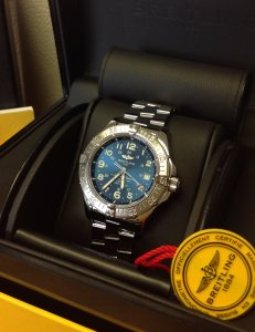 Breitling Superocean Blue Arabic Numeral Dial A17360 Just Serviced
