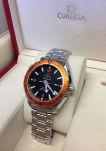 Omega Planet Ocean 42mm Orange Bezel Current Model 232.30.42.21.01.002