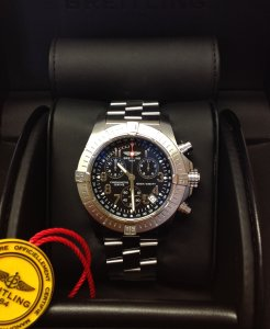 Breitling Avenger Seawolf Chronograph A73390 Black Arabic Numeral Dial