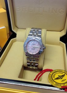 Breitling Starliner Pink MOP Diamond Dial A71340
