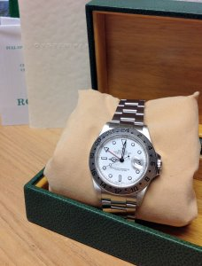 Rolex Explorer II 16570 40mm White Dial 2003 Recently Serviced
