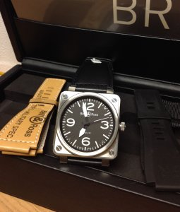 Bell & Ross BR01-92 Black Dial With Four Straps
