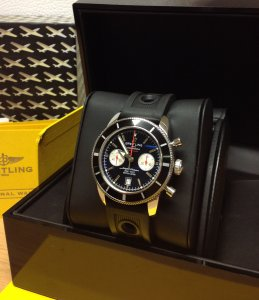 Breitling Superocean Heritage Chronograph 125th Anniversary Black Dial A23320