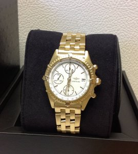 Breitling Chronomat 18ct Yellow Gold Early Series 1984-1996 Satin Finish 81950 Just Serviced By Breitling UK