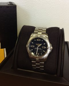 Breitling Aerospace E79362 Black Dial Just Serviced By Breitling UK