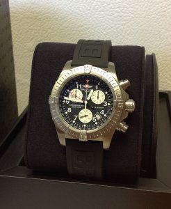 Breitling Avenger M1 Chronograph Black Dial E73360 Just Serviced By Breitling