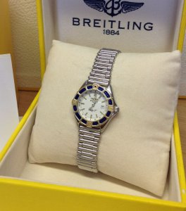 Breitling Lady J White Dial D52065 Just Serviced By Breitling