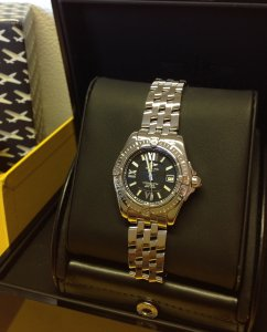 Breitling Lady Cockpit Black Dial A71356