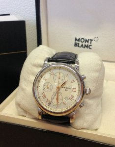 Montblanc Star GMT Chronograph Automatic Movement 42mm Silver Dial 36967 Undated Warranty