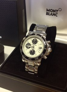 Montblanc Sport Chronograph Automatic White Dial 41.5mm 7304
