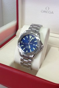 Omega Seamaster 41mm Blue Dial Polished Finish Stainless Steel Bezel 2265.80.00