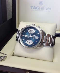 Tag Heuer Grand Carrera Chronograph Calibre 17 Blue Dial CAV511F Limited to 300 Pieces World-Wide
