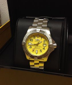 Breitling Avenger Seawolf Yellow Arabic Numeral Dial A17330 2011