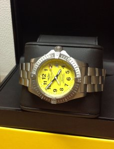 Breitling Avenger Seawolf Yellow Dial E17370 In Titanium From 2008