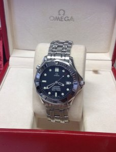 Omega Seamaster 300M 41mm Automatic Navy Blue Dial 2532.80.00 Just Serviced By Omega UK
