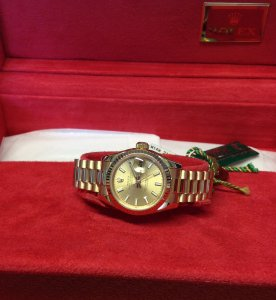 Rolex Datejust 26mm 179178 18ct Yellow Gold Champagne Baton Dial Just Serviced By Rolex UK
