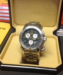 Breitling Emergency Mission Bi/Colour B73321 Black Dial Recently Serviced By Breitling UK