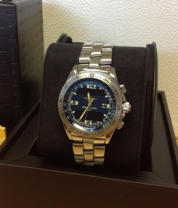 Breitling B-1 Blue Dial A68362 From 2001