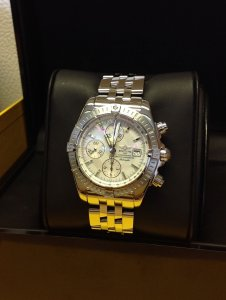 Breitling Chronomat Evolution A13356 Mother Of Pearl Dial 2011