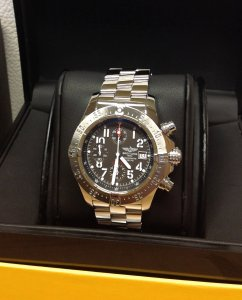 Breitling Avenger Skyland Grey Arabic Numeral Dial A13380 Just Serviced By Breitling UK