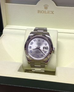 Rolex Datejust II Rhodium Dial 116334 From 2010