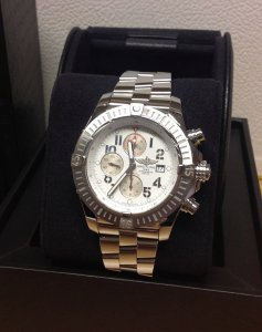 Breitling Super Avenger White Arabic Numeral Dial A13370 2014